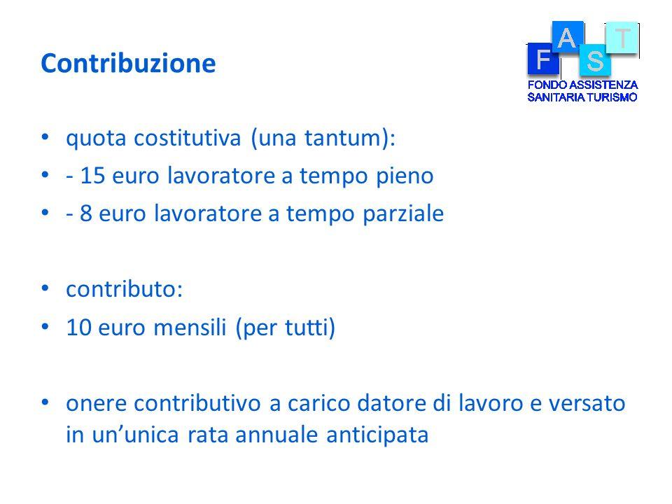 Contribuzione quota costitutiva (una tantum):