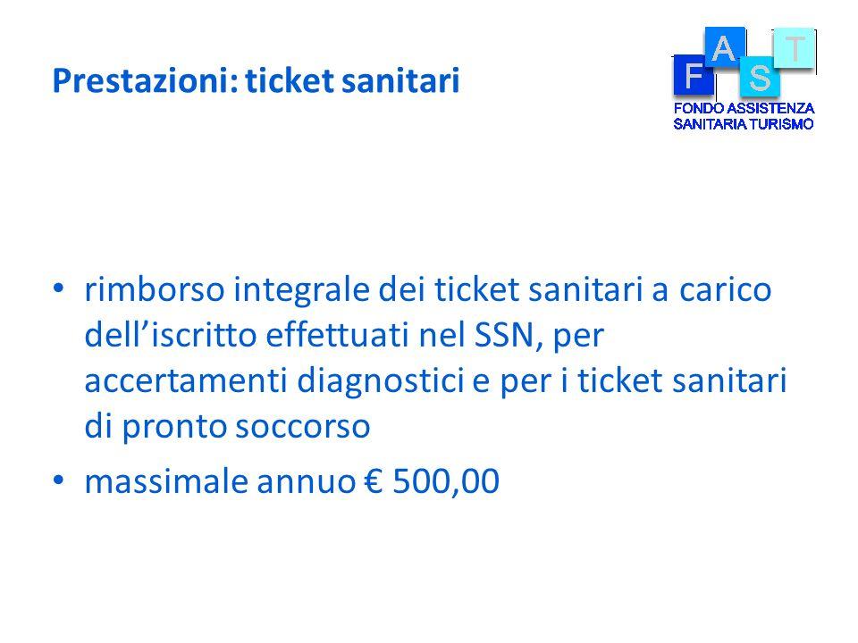Prestazioni: ticket sanitari