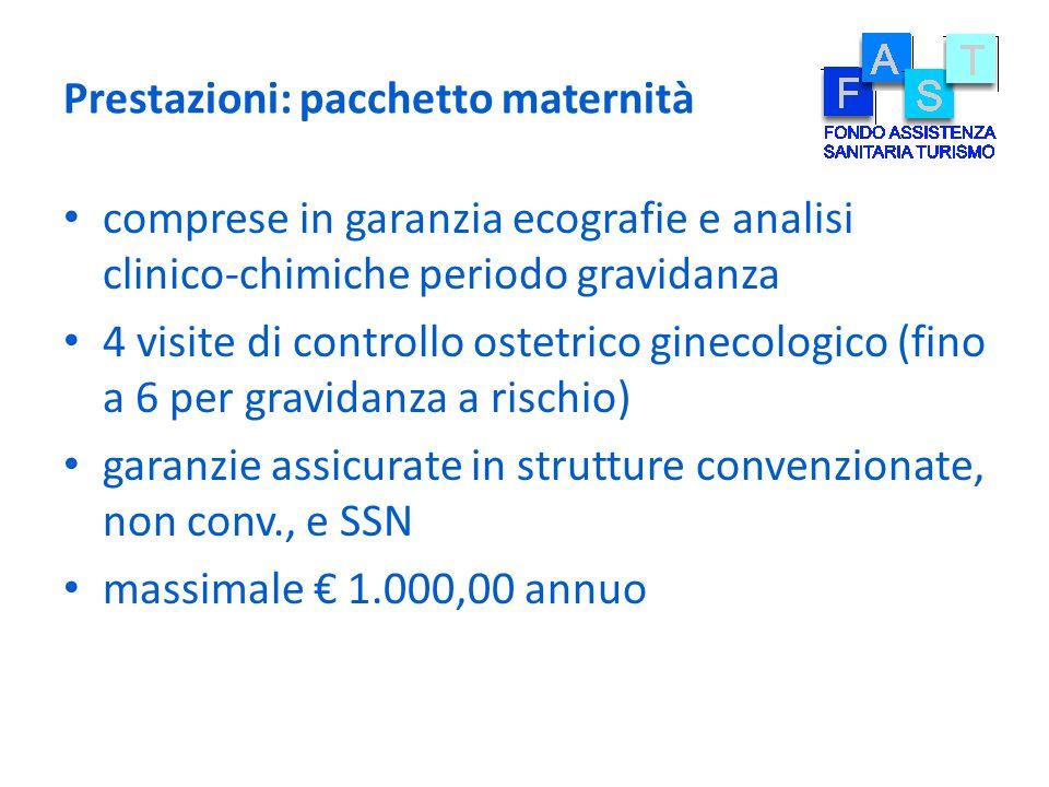 Prestazioni: pacchetto maternità