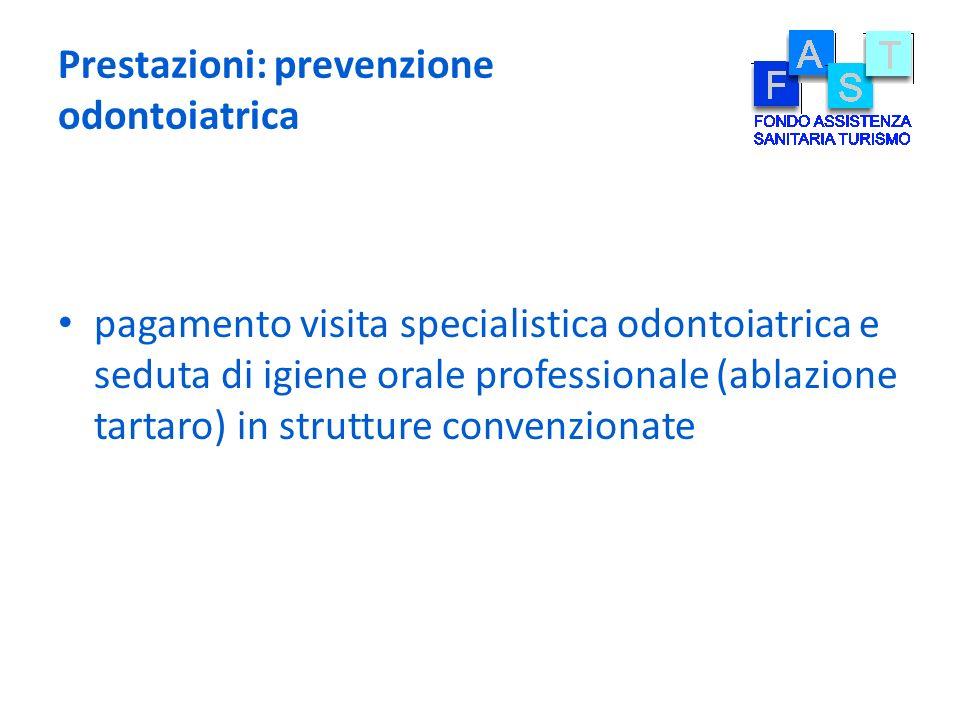 Prestazioni: prevenzione odontoiatrica