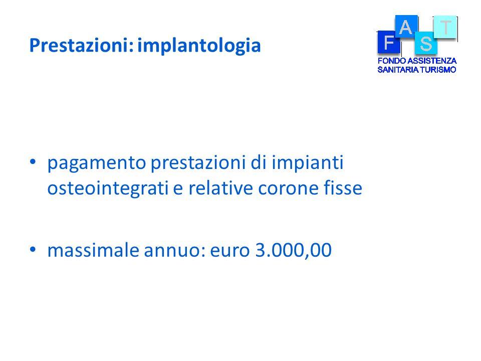 Prestazioni: implantologia