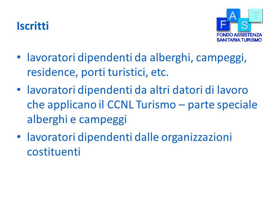 Iscritti lavoratori dipendenti da alberghi, campeggi, residence, porti turistici, etc.