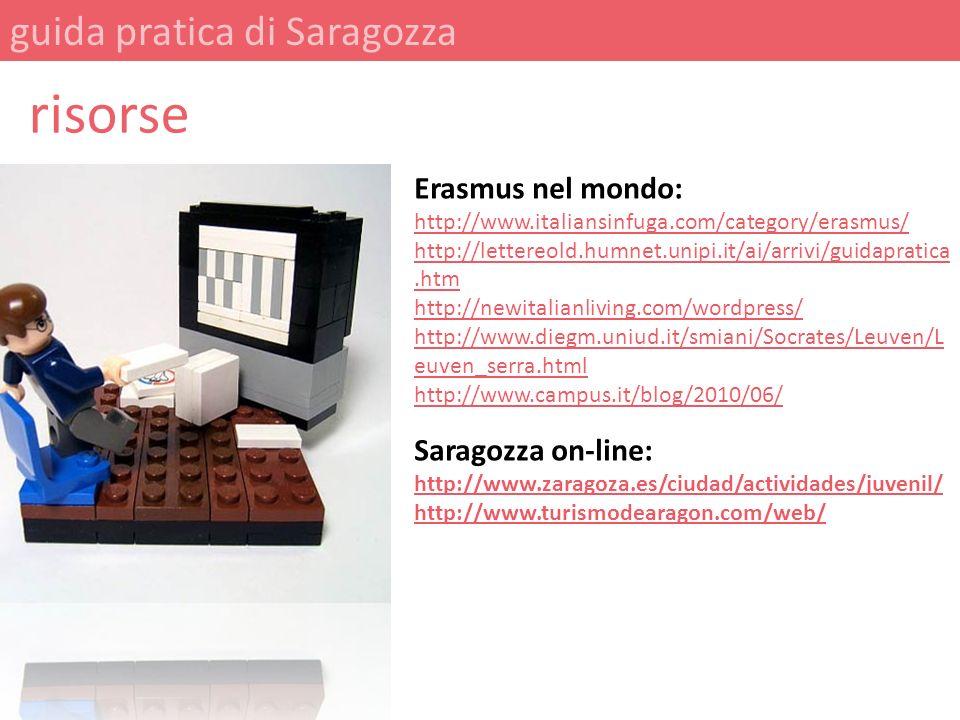 risorse guida pratica di Saragozza Erasmus nel mondo:
