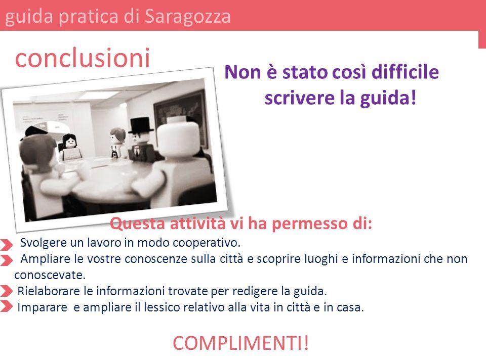 conclusioni guida pratica di Saragozza