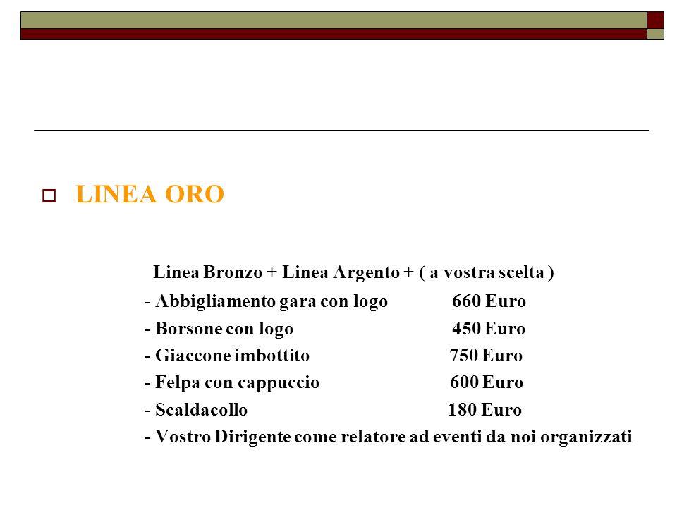 Linea Bronzo + Linea Argento + ( a vostra scelta )