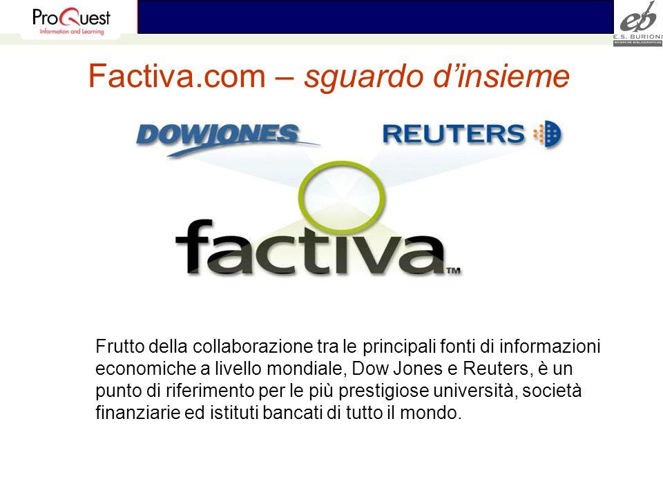 Factiva.com – sguardo d'insieme