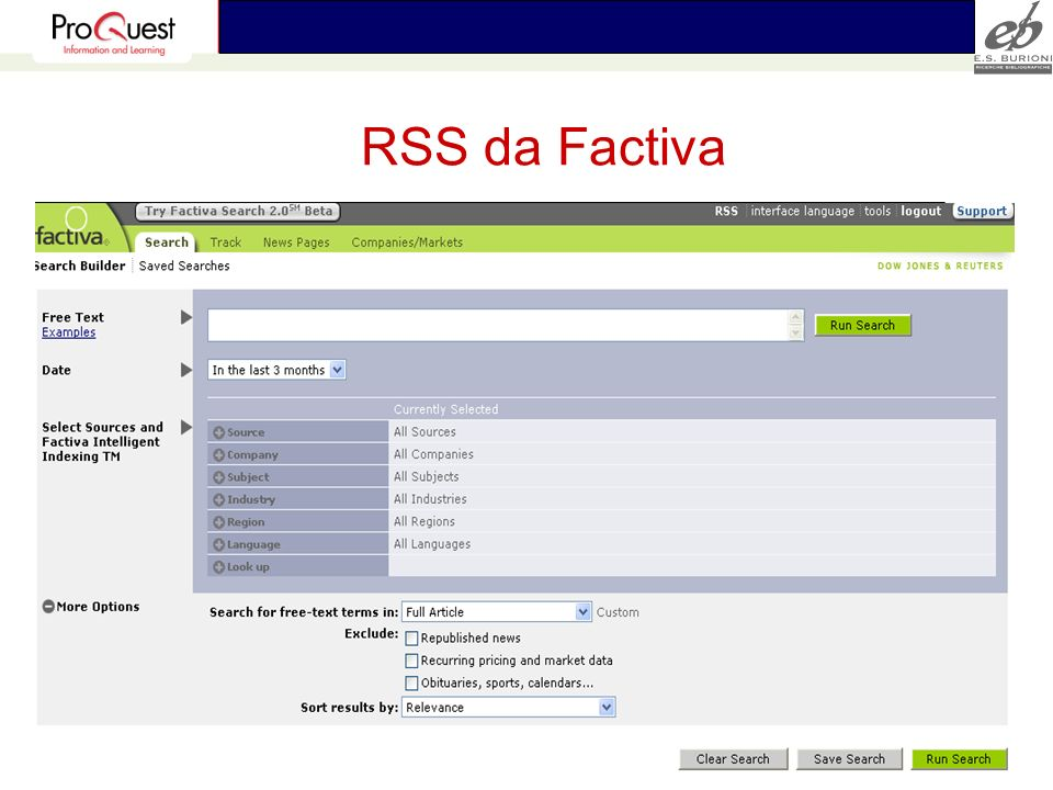 RSS da Factiva