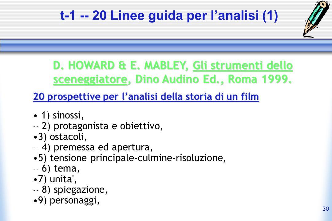 t-1 -- 20 Linee guida per l'analisi (1)