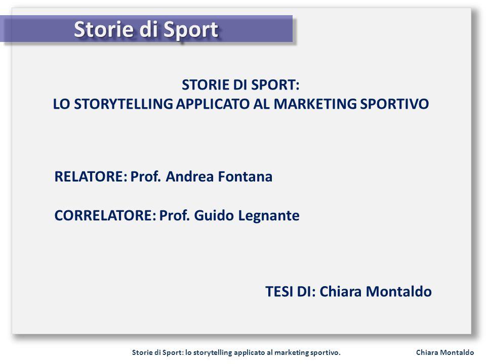 LO STORYTELLING APPLICATO AL MARKETING SPORTIVO