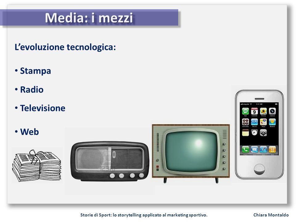 Media: i mezzi L'evoluzione tecnologica: Stampa Radio Televisione Web