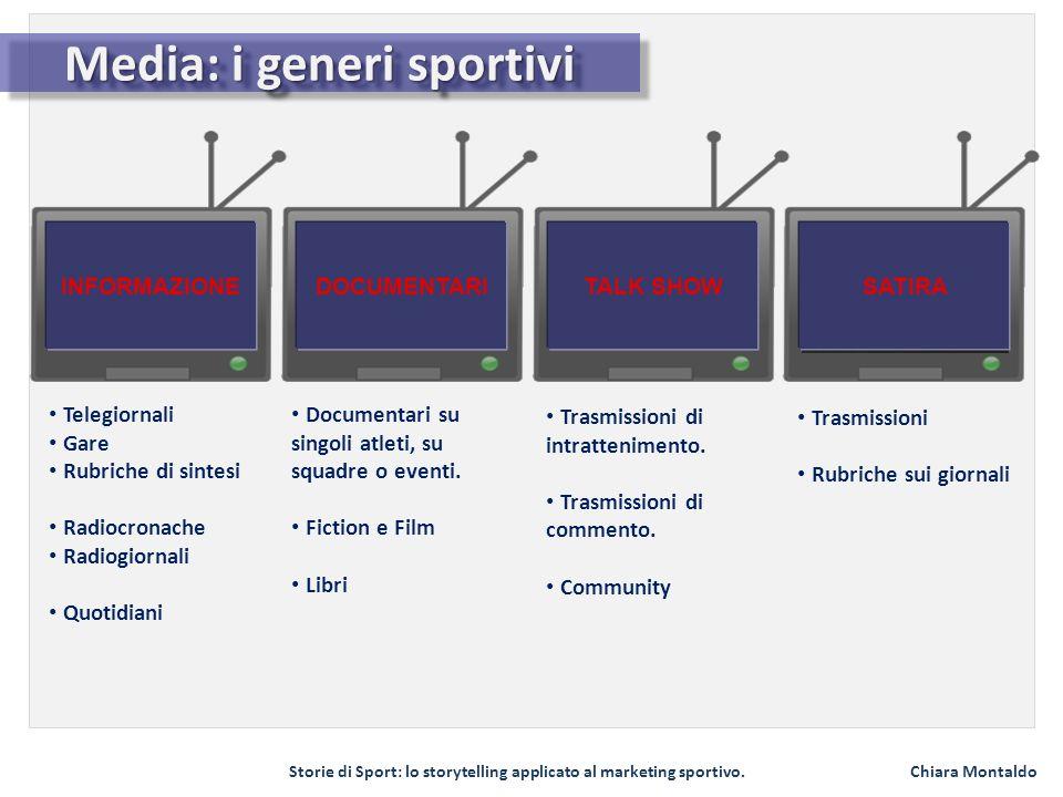 Media: i generi sportivi