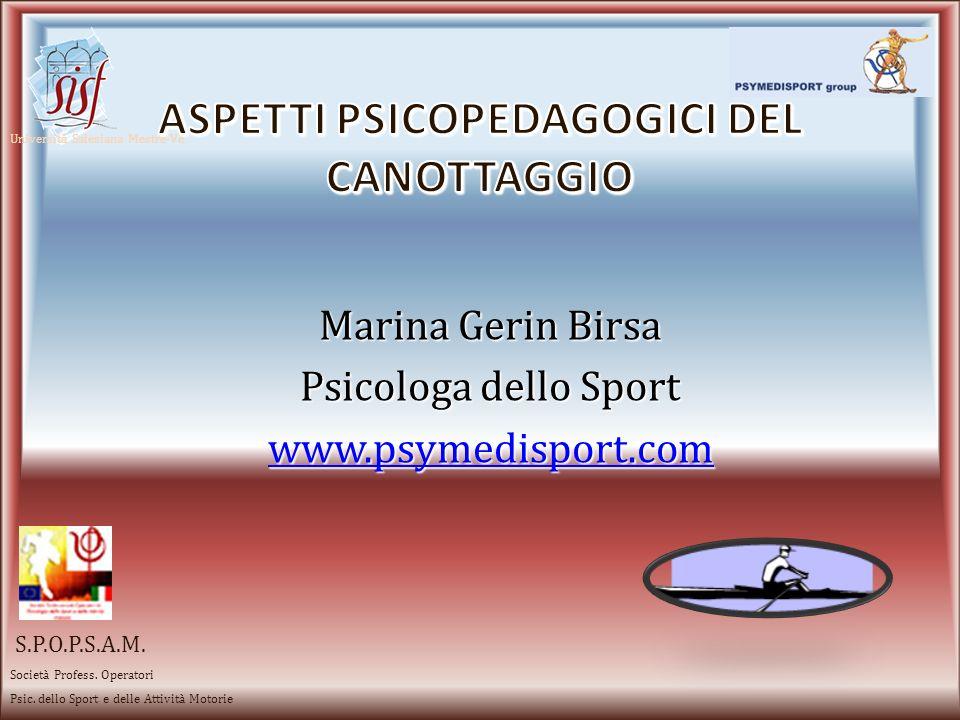 Aspetti psicopedagogici del canottaggio
