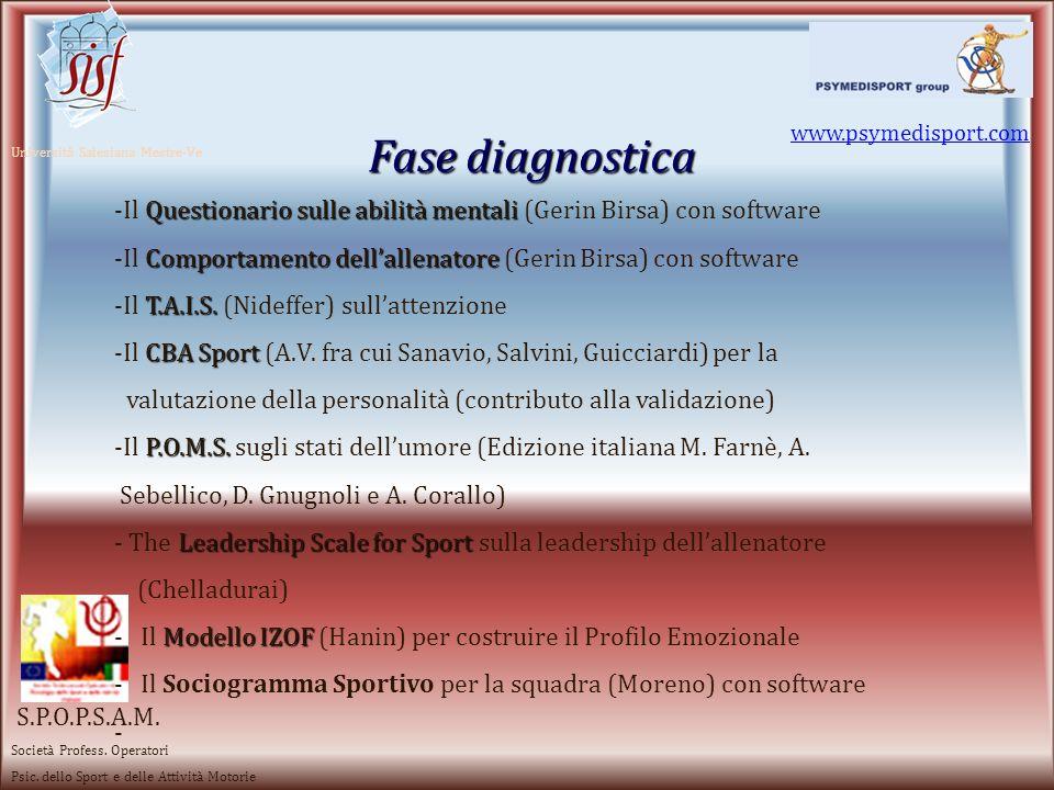 Fase diagnostica www.psymedisport.com