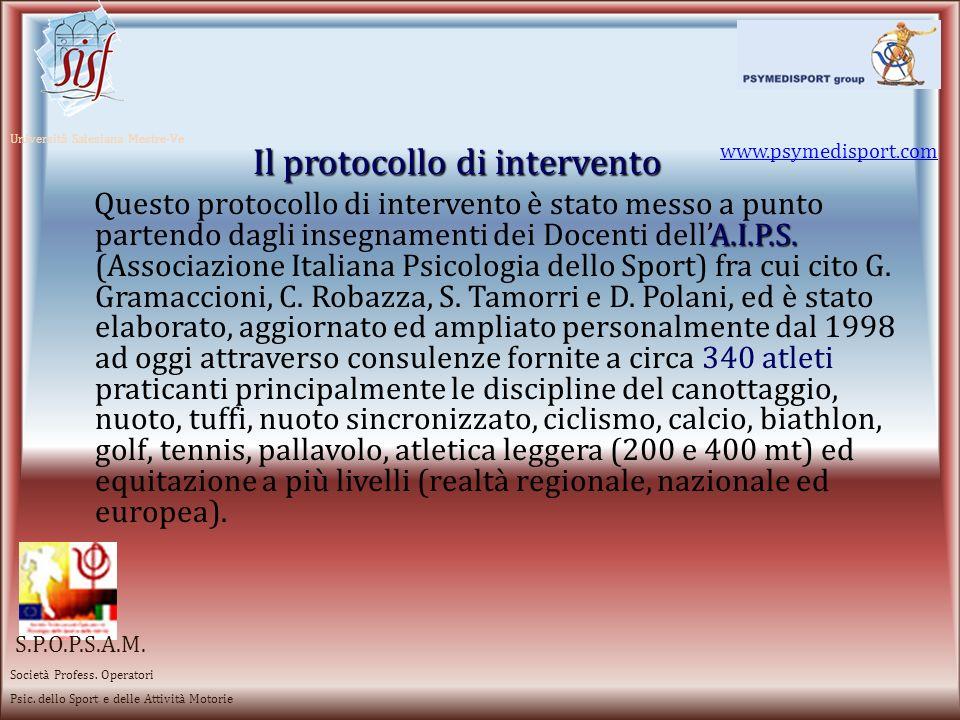 Il protocollo di intervento