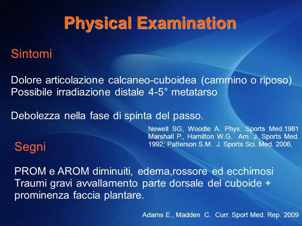 Physical Examination Sintomi Segni