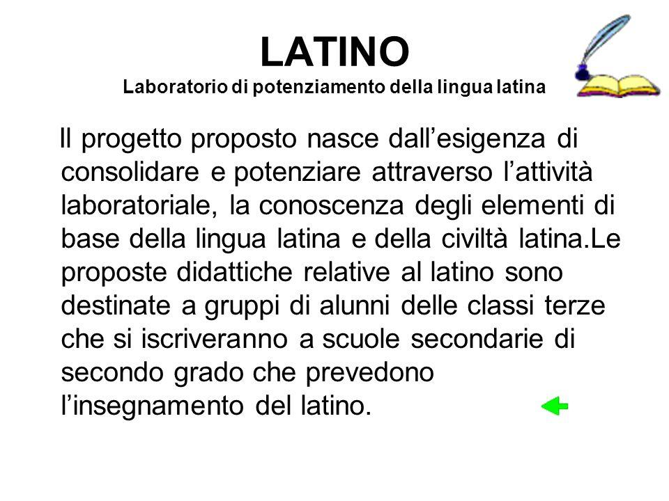 LATINO Laboratorio di potenziamento della lingua latina