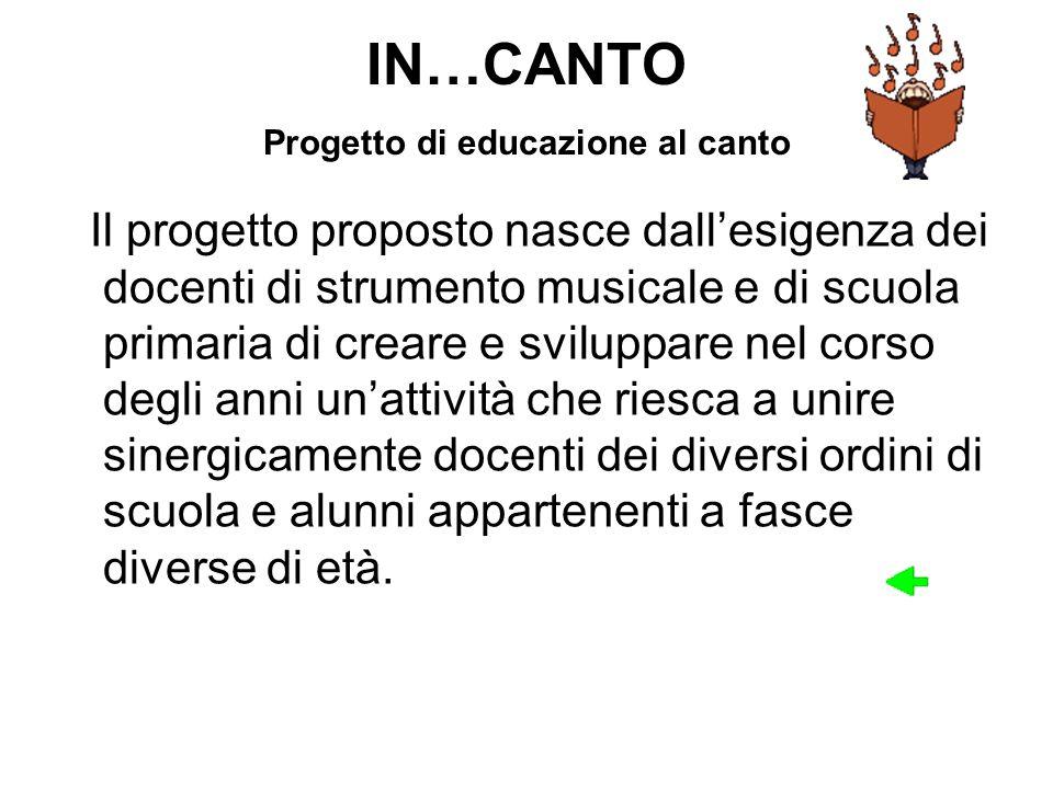 IN…CANTO Progetto di educazione al canto