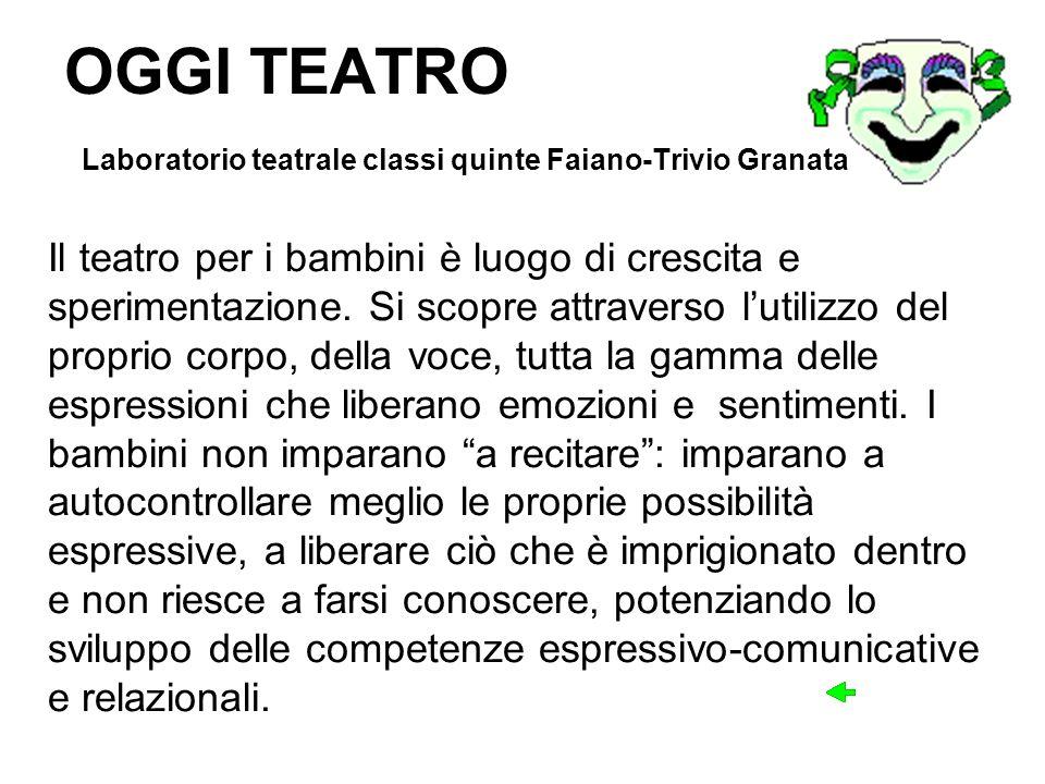 OGGI TEATRO Laboratorio teatrale classi quinte Faiano-Trivio Granata