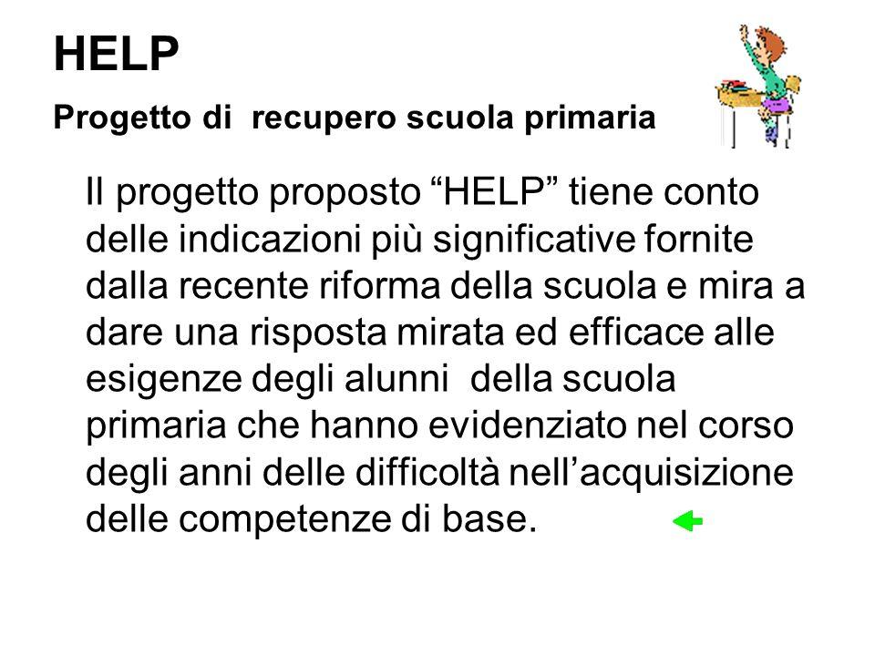 HELP Progetto di recupero scuola primaria