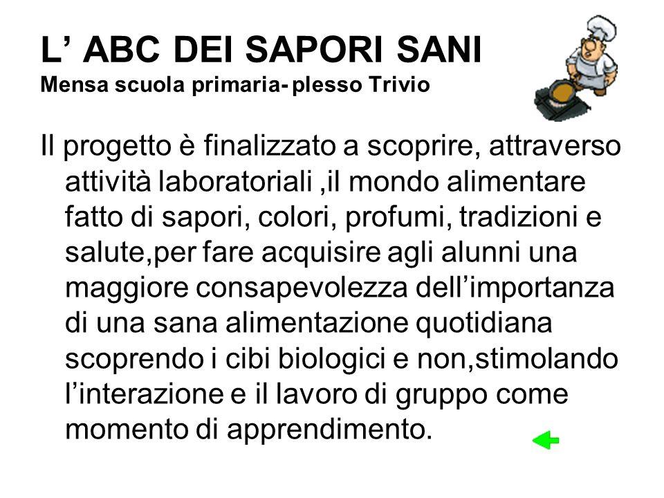 L' ABC DEI SAPORI SANI Mensa scuola primaria- plesso Trivio