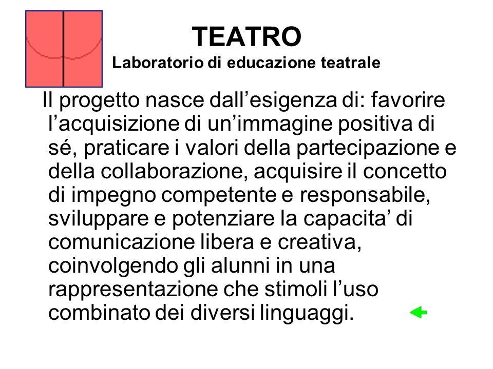 TEATRO Laboratorio di educazione teatrale