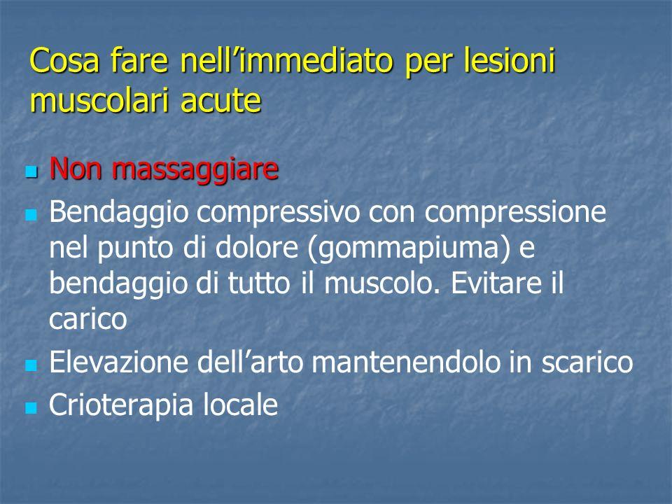 Cosa fare nell'immediato per lesioni muscolari acute