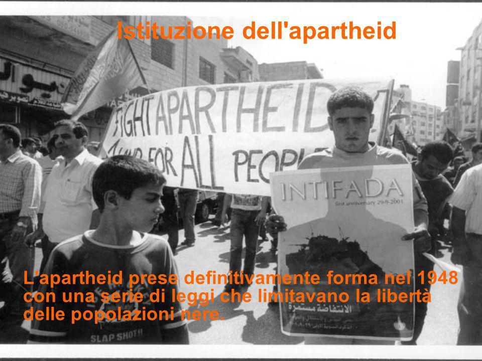 Istituzione dell apartheid