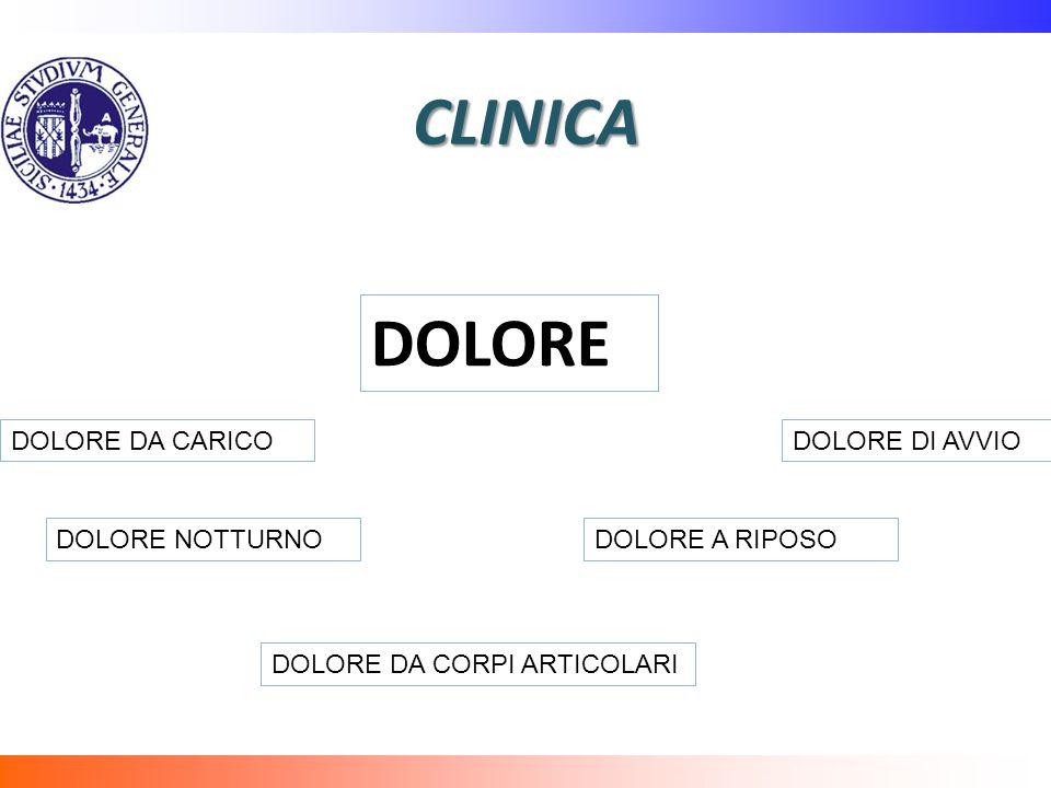 CLINICA DOLORE DOLORE DA CARICO DOLORE DI AVVIO DOLORE NOTTURNO