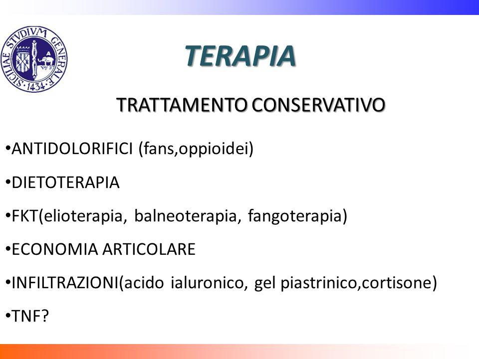 TERAPIA TRATTAMENTO CONSERVATIVO ANTIDOLORIFICI (fans,oppioidei)