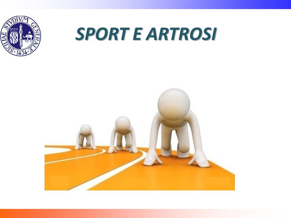 SPORT E ARTROSI Discutibile è la il legame dell'artrosi e un'articolazione normale di uno sportivo(facciamo riferimento agli agonisti).