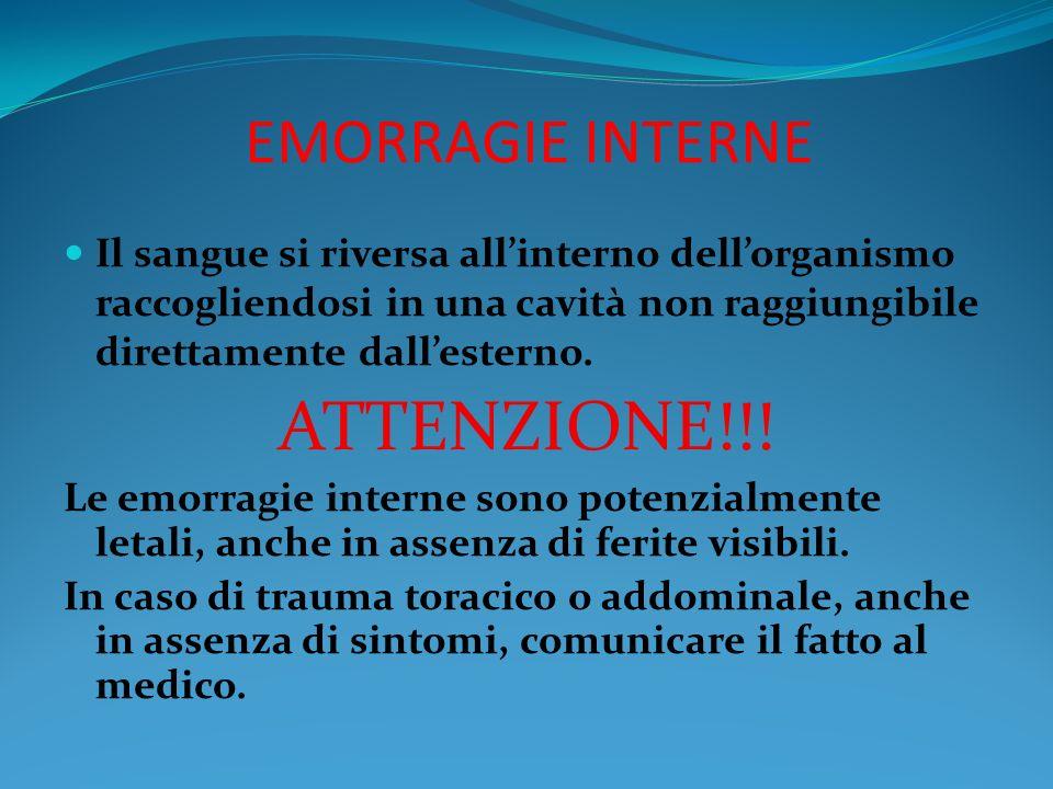 ATTENZIONE!!! EMORRAGIE INTERNE