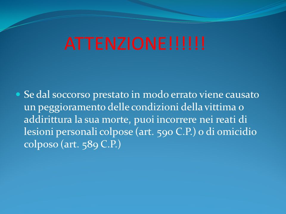ATTENZIONE!!!!!!