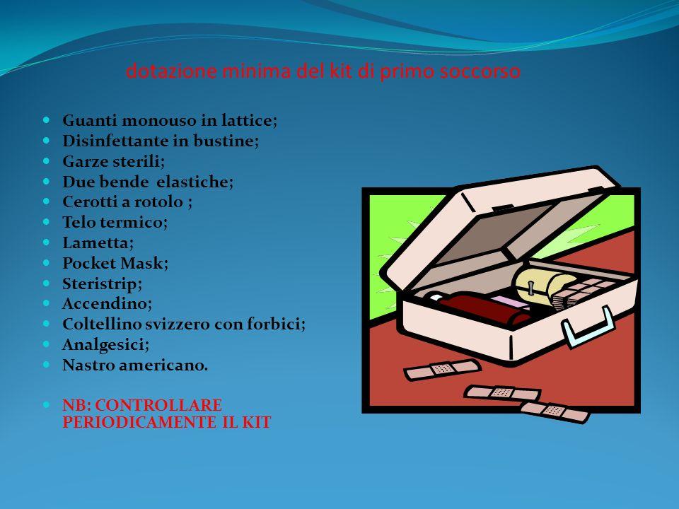 dotazione minima del kit di primo soccorso
