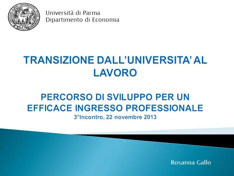 Università di Parma Dipartimento di Economia.