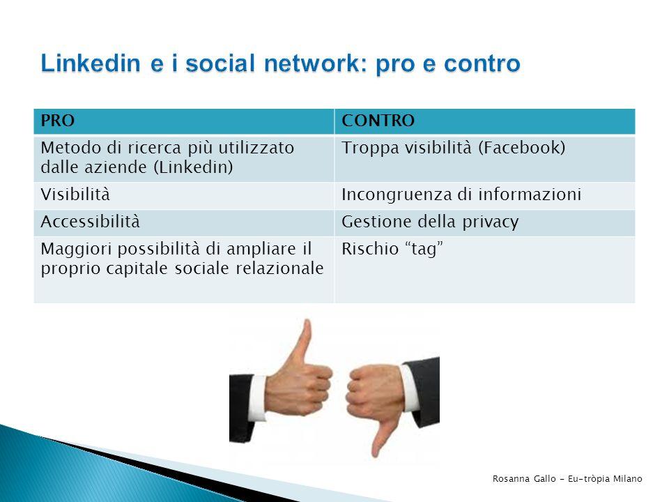 Linkedin e i social network: pro e contro