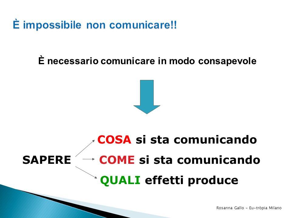 È impossibile non comunicare!!