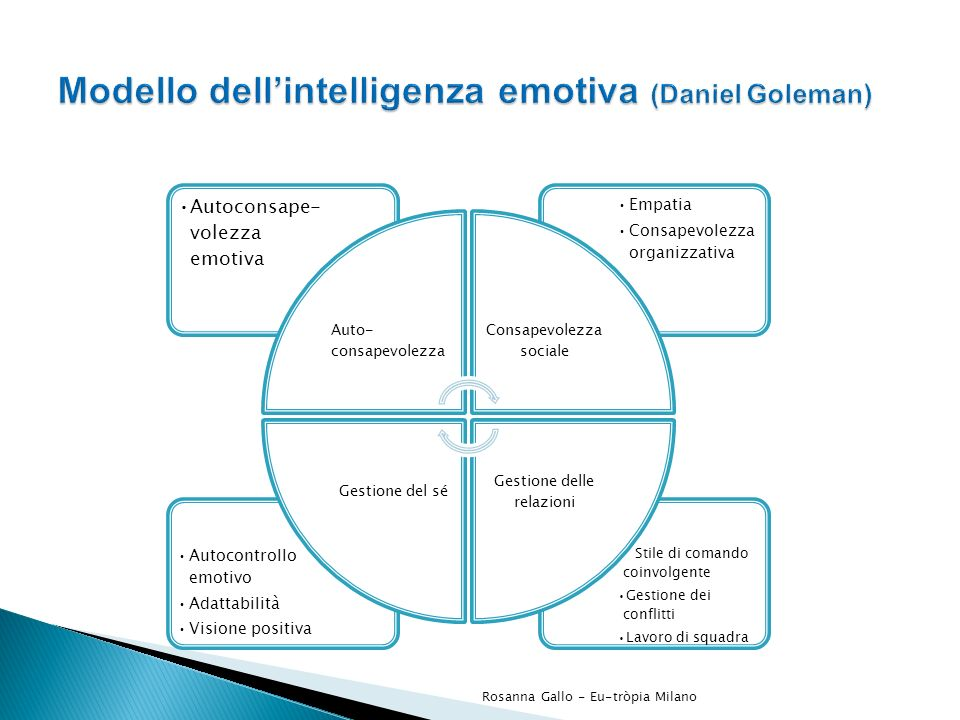 Modello dell'intelligenza emotiva (Daniel Goleman)
