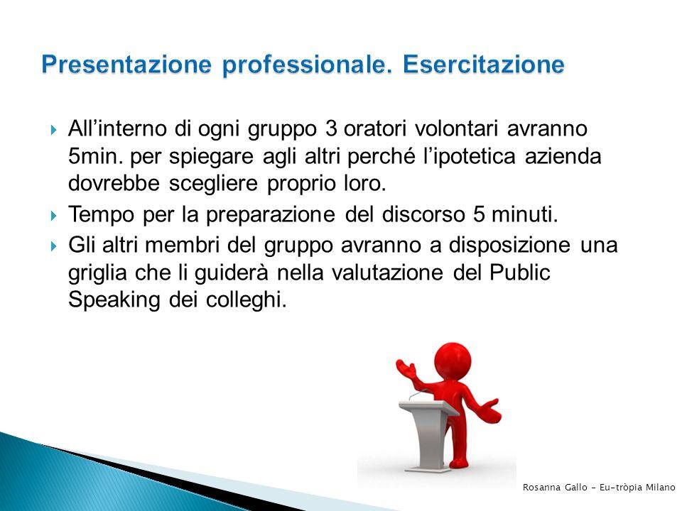 Presentazione professionale. Esercitazione