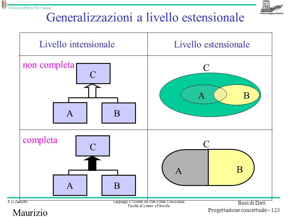 Generalizzazioni a livello estensionale