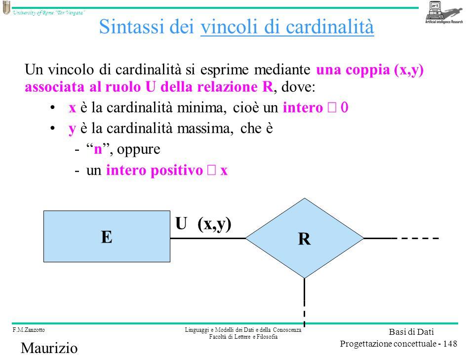 Sintassi dei vincoli di cardinalità