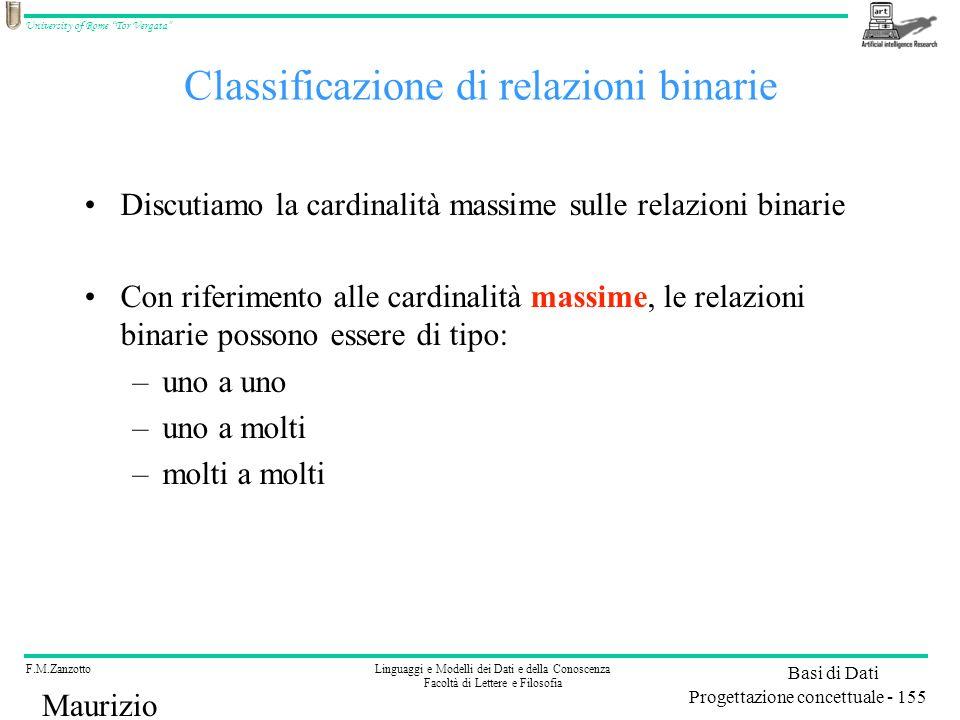 Classificazione di relazioni binarie