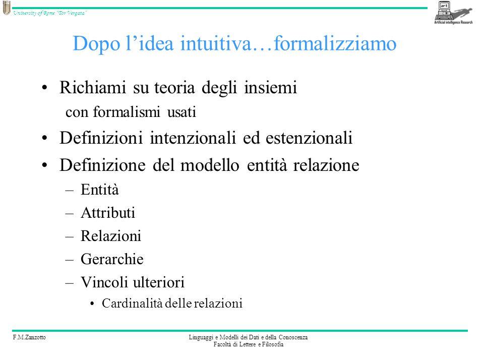Dopo l'idea intuitiva…formalizziamo