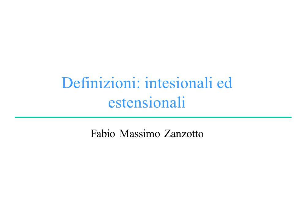 Definizioni: intesionali ed estensionali