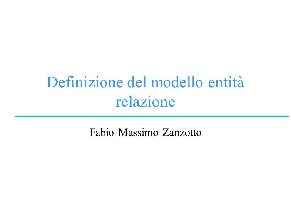 Definizione del modello entità relazione