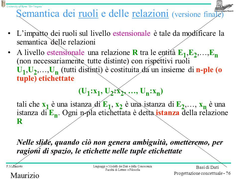 Semantica dei ruoli e delle relazioni (versione finale)