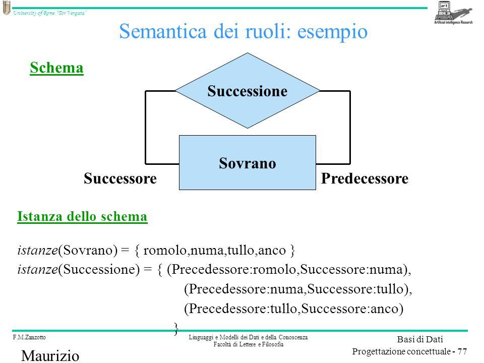 Semantica dei ruoli: esempio
