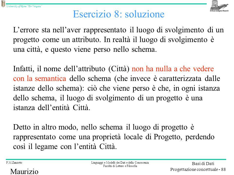 Esercizio 8: soluzione