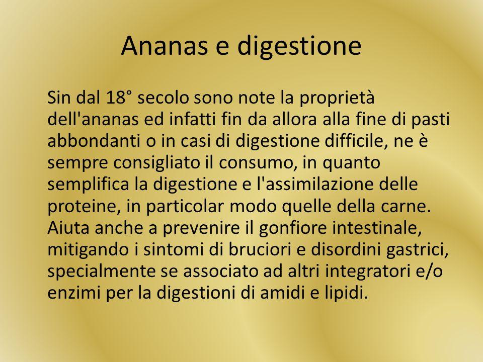 Ananas e digestione
