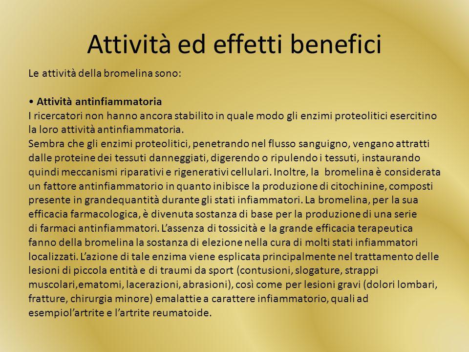 Attività ed effetti benefici