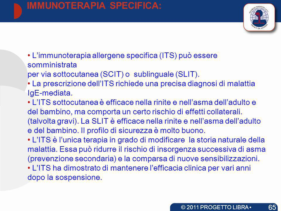 IMMUNOTERAPIA SPECIFICA: